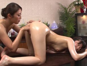 Japanese lesbian massage uncensored